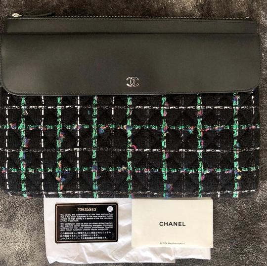 Chanel Quilted Lambskin Clutch Laptop Bag