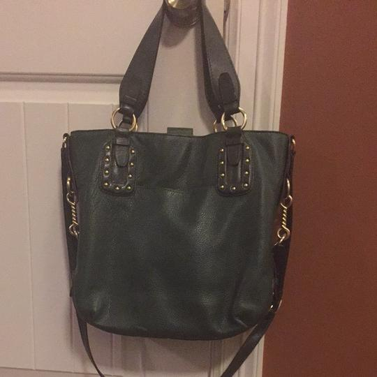 Michael Kors Tote in Green With Brass Hardware