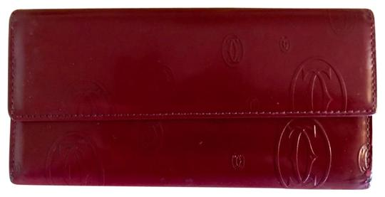 Preload https://item2.tradesy.com/images/cartier-tri-fold-purse-red-leather-clutch-22855786-0-1.jpg?width=440&height=440