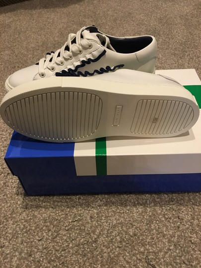 Tory Burch white with navy ruffle Athletic