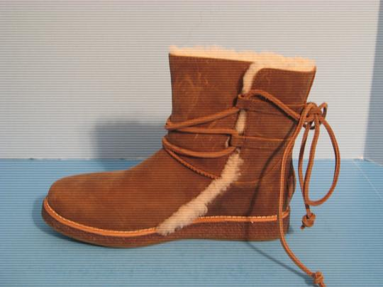 UGG Australia Chocolate Pull On Leather Luisa Brown Boots