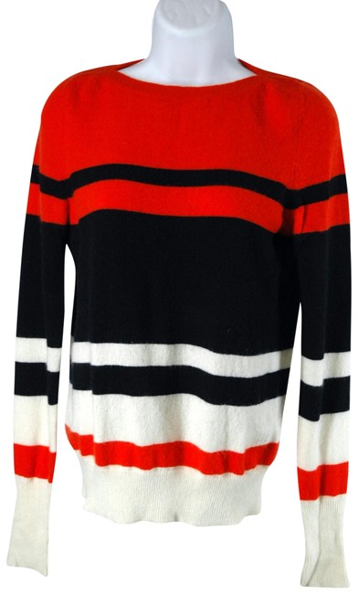 Preload https://img-static.tradesy.com/item/22855851/demylee-red-black-and-white-striped-cashmere-sweaterpullover-size-2-xs-0-1-650-650.jpg