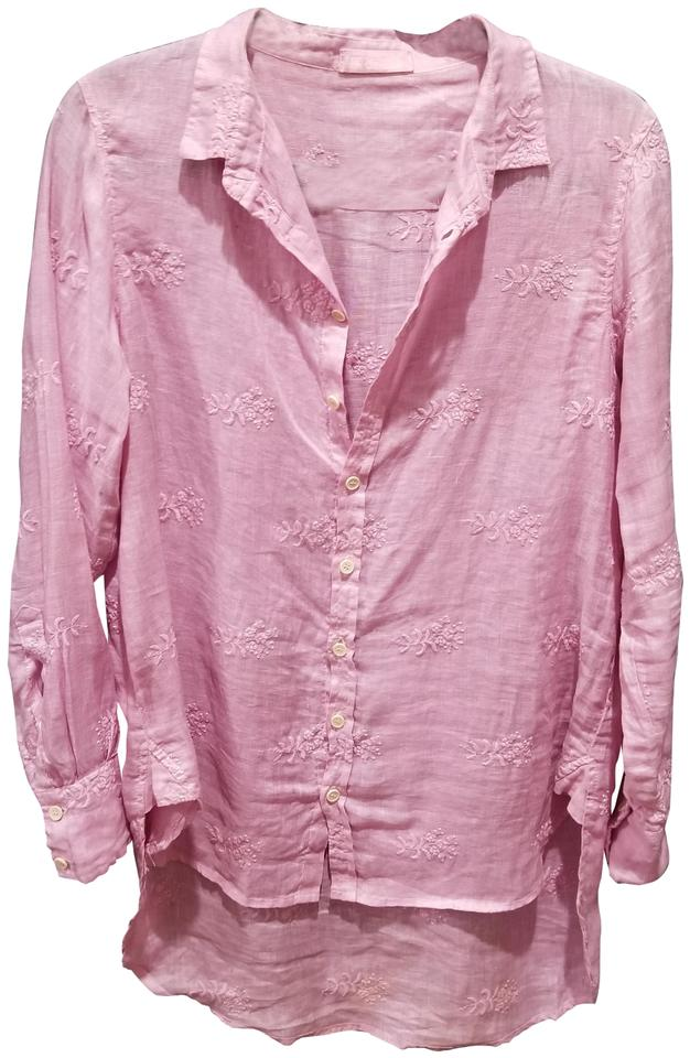 334a13f4f52af0 CP Shades Peony Pink Classic Shirt Button-down Top Size OS (one size ...