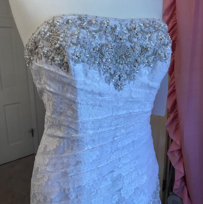 David's Bridal Lace Fit And Flare Wedding Gown Dress