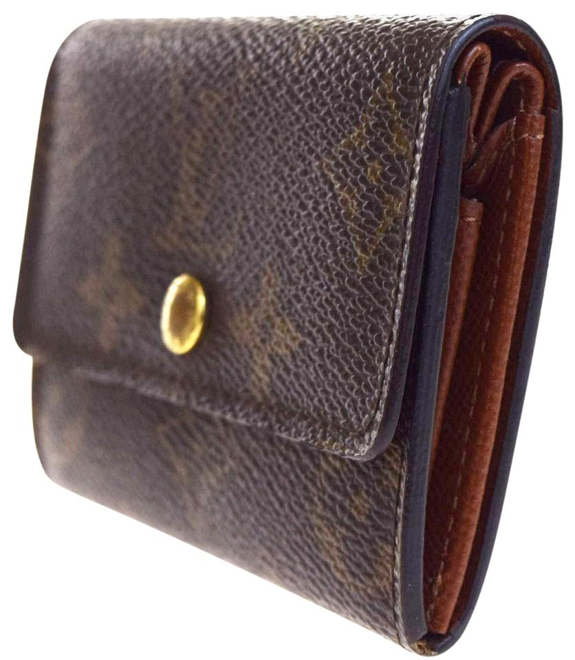 d0bf7b893dd3 Louis Vuitton Coin Purse Porte Monnaie Plat Browns Monogram Card Case men  M61930 Image 0 ...