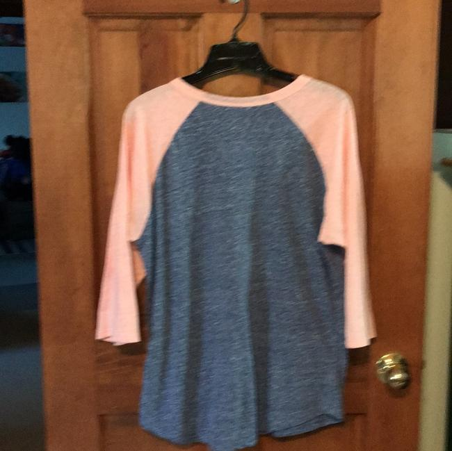 LuLaRoe T Shirt blue/peach