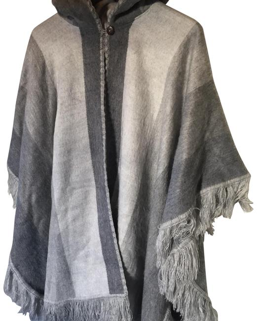 Greys Hooded Poncho Tunic Size 12 (L) Greys Hooded Poncho Tunic Size 12 (L) Image 1