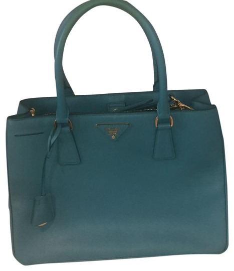 Preload https://item1.tradesy.com/images/prada-medium-saffiano-tote-teal-leather-satchel-22856025-0-1.jpg?width=440&height=440