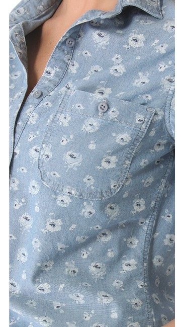AG Adriano Goldschmied Button Down Shirt blue
