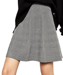 Zara Skirt Gray Black