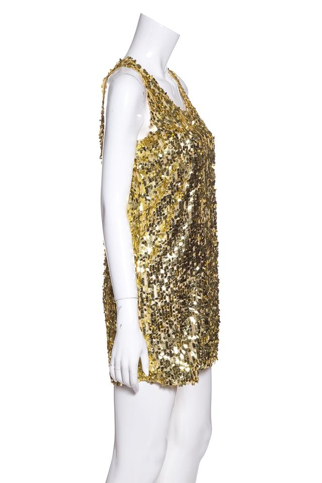 c848c42992 Givenchy Gold Sequin Short Cocktail Dress Size 6 (S) - Tradesy