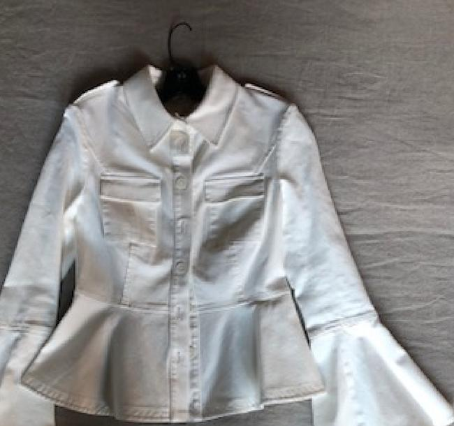Saks/ Scripted New White Womens Jean Jacket