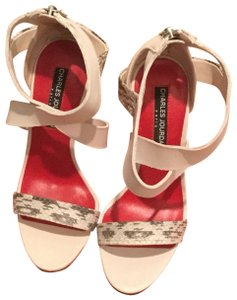 Charles Jourdan cream with grey Sandals - item med img
