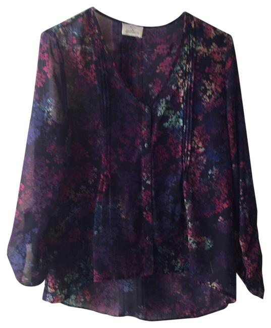 Preload https://item3.tradesy.com/images/pins-and-needles-blackpink-button-up-flower-pattern-blouse-size-4-s-22856247-0-1.jpg?width=400&height=650