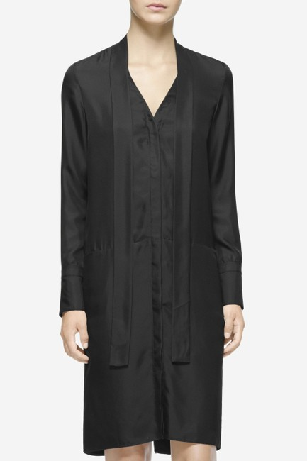 Rag & Bone short dress Black Silk Menswear Inspired on Tradesy