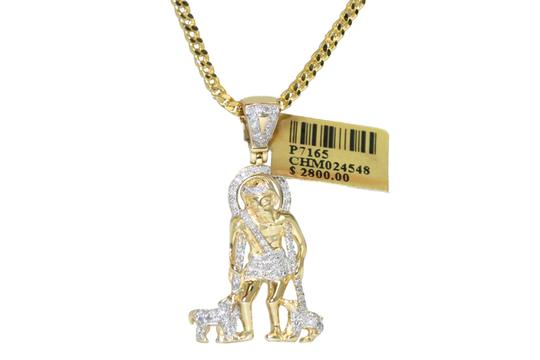 Preload https://img-static.tradesy.com/item/22856280/diamond-10k-yellow-gold-franco-chain-with-saint-lazaro-pendant-necklace-0-1-540-540.jpg
