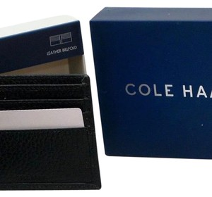 Cole Haan New Cole Haan Pebble Leather Slim Bifold Black Men's Wallet - Style CHDM21009L