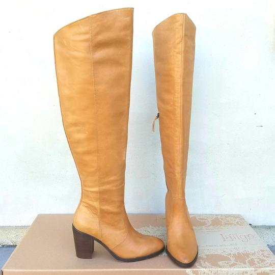 Anthropologie Natural Leather Boots