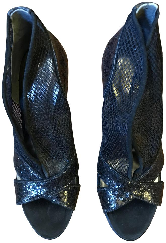 Guess Marciano Black New By Marciano Guess Glitter High Heels Sandals fc16cd