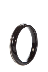 Ippolita Ippolita Black Resin & Sterling Silver Bangle Bracelet