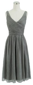 J. Crew Silk Chiffon Bridesmaid Wedding Prom Flowy Dress