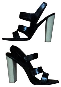 Narciso Rodriguez Leather Heels Chic Classic Black Sandals