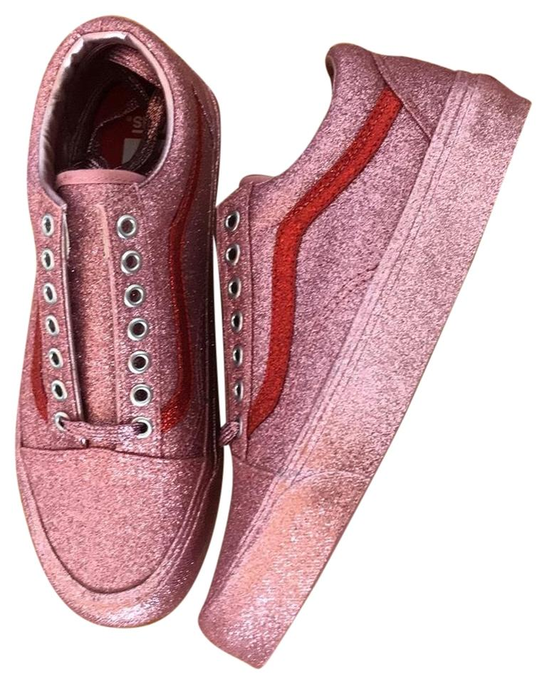 Vans Pink   Red Accent Glitter Limited Edition Sneakers Size US 8.5 ... f03845181