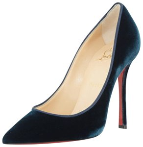 Christian Louboutin Velvet Velvet Velvet Heels Decoltish blue Pumps