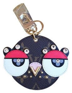 Louis Vuitton BRAND NEW LIMITED 2018 Animal Faces Charm Key Monogram Canvas Crystals