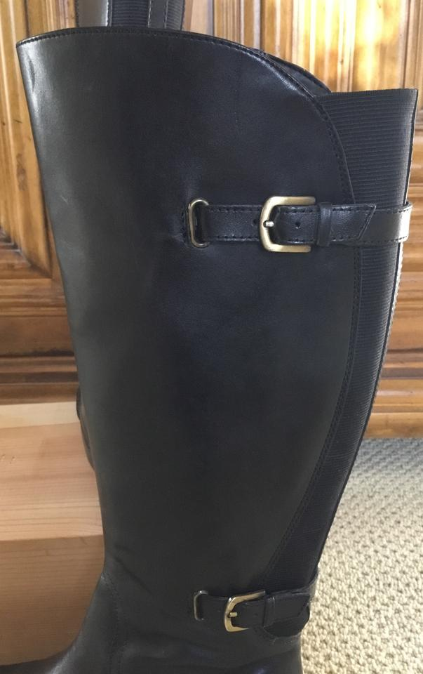 760f03e3c5d Naturalizer Black Jennings Riding Boots Booties Size US 8.5 Wide (C ...