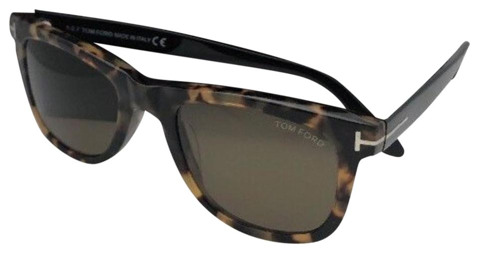 e1a7626463b9 Tom Ford Leo Tf 9336 55j 52-21 Tortoise Havana   Black W Brown Lenses W   Sunglasses