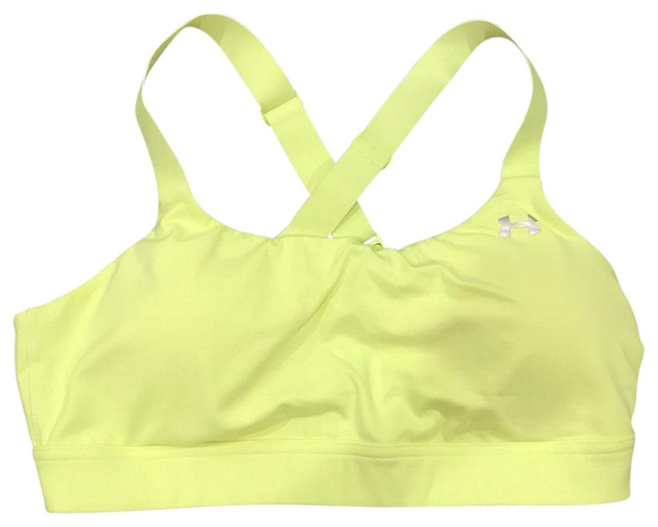 5d17d580df Under Armour Yellow Activewear Sports Bra Size 12 (L) - Tradesy