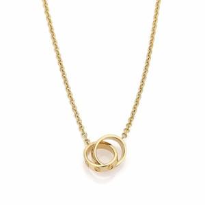 Cartier - Love 18k Yellow Gold Mini Double Ring Pendant Necklace w/Cert