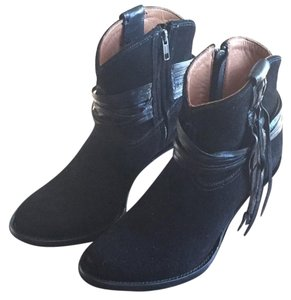 Lucchese Equestrian Leather Country-style Western Black Boots