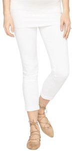 AG Adriano Goldschmied AG Secret Fit Belly Stilt Roll Up Maternity Jeans- White