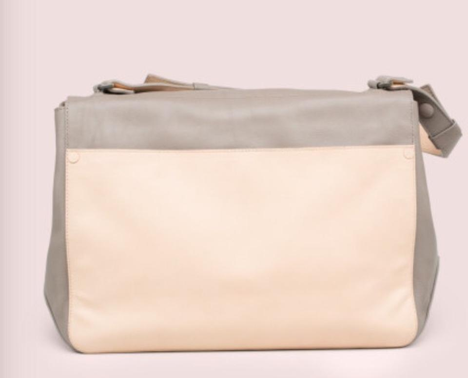 Proenza Leather Natural Shoulder and Strap Once Adjustable Worn Ps Courier Bag Schouler Grey Large rPxr4AF