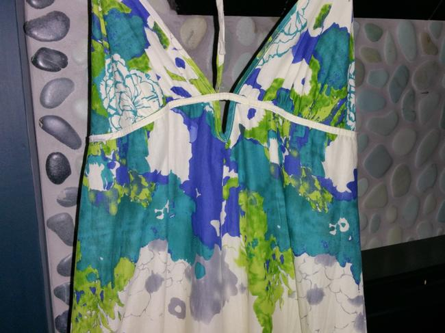 Multi white Purple Green Maxi Dress by Forever 21
