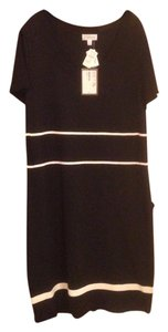 St. John Sport short dress Black/Bright White on Tradesy