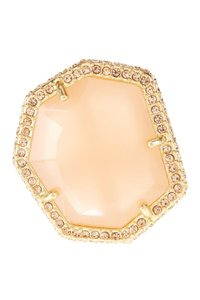 Vince Camuto Vince Camuto Pave Border Stone Ring 7 Milky Peach