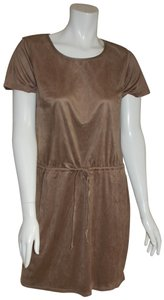 Charming Charlie short dress Brown Faux Suede Comfortable Modest on Tradesy
