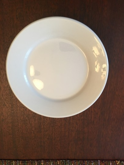 Anthropologie White New Set Of 4 Plates Casual China Image 2