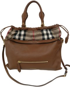 Burberry Leather House Check Hay Market Cross Body Bag