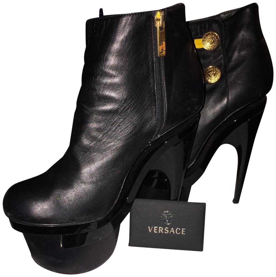 women Black Versace Black women Unique Boots/Booties High-quality materials 3f51bc