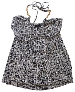 Express black and white Halter Top