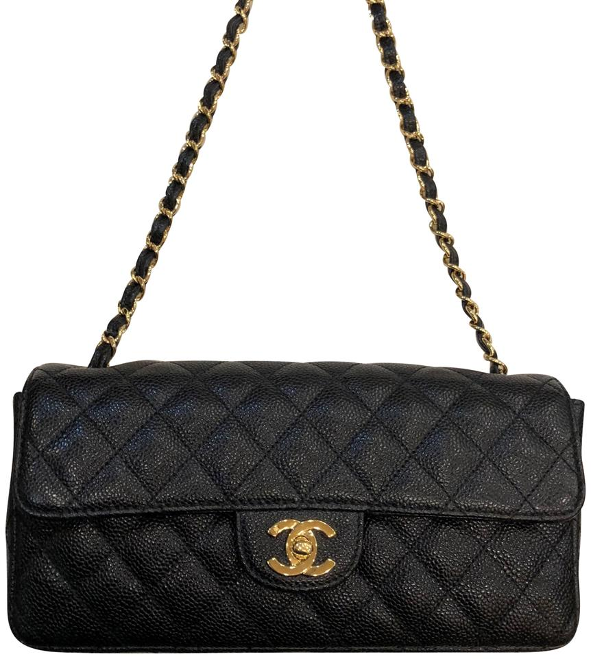 23cf4a6514cb95 Chanel Classic Quilted Handbag In Black Caviar And Gold Hardware ...