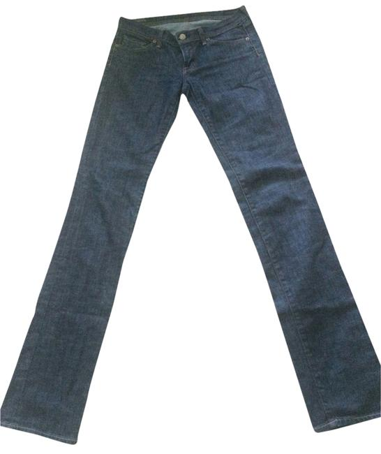 Item - Dark Denim Rinse Ava #142 Low Waist/ Straight Leg Jeans Size 27 (4, S)