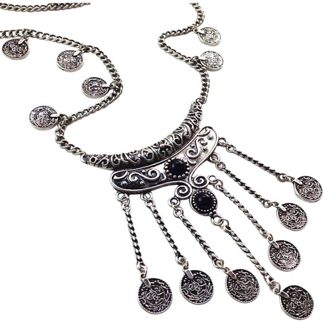 Item - Silver Plated Womens Ethnic Bohemian Gypsy Necklace