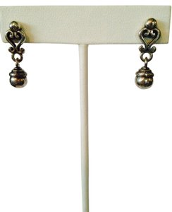 Brighton Sterling Silver Scroll & Ball Dangle Earrings