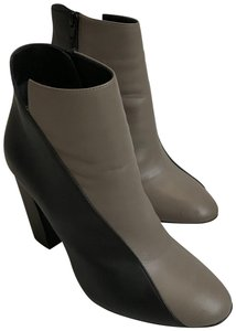 Pierre Hardy Nappa Leather Sculpted Heel Taupe/Black Boots