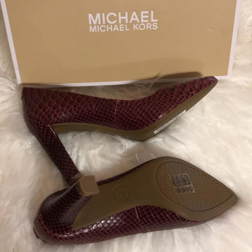 f3ebd6844880 MICHAEL Michael Kors Mulberry Snake Embossed Printed Leather Abbi ...